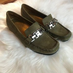 Cole Haan Green Suede Shoes Loafers Size 9